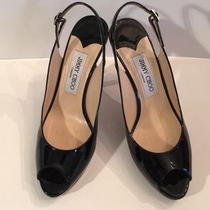 Jimmy Choo size 8 peep toe barely worn heels